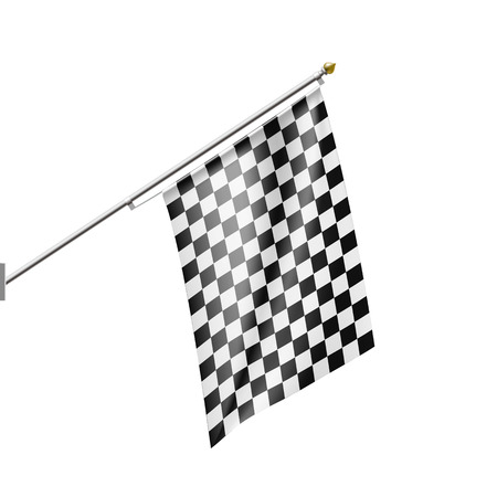 racing checkered flag crossed: Checkered Flag isolated on white background. Stock vector illustration.