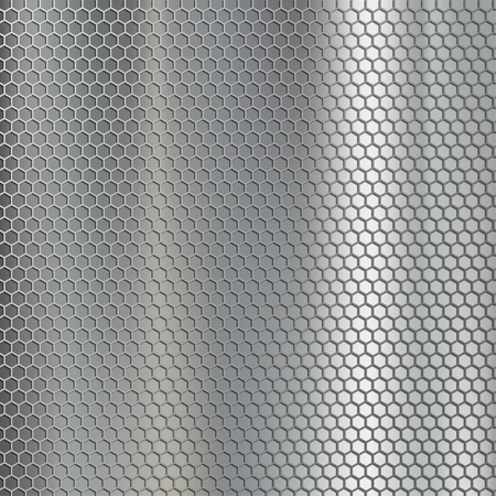 grille: Geometric metallic texture. Steel mesh. Industrial and construction background. Stock vector illustration.