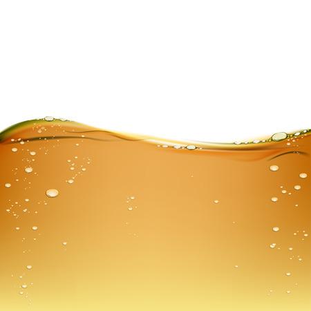 Achtergrond olijf olie geïsoleerd op een witte achtergrond. Motorolie voor de smering. Textuur van alcoholhoudende drank met bellen