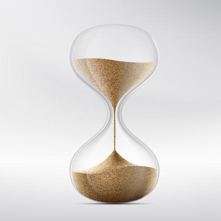 Ikona klepsydry. Urządzenie do pomiaru czasu. Ilustracja wektorowa pień.