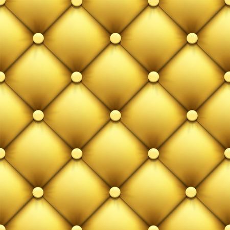 Seamless pattern. Retro luxury background. Leather upholstery. Stock vector illustration.