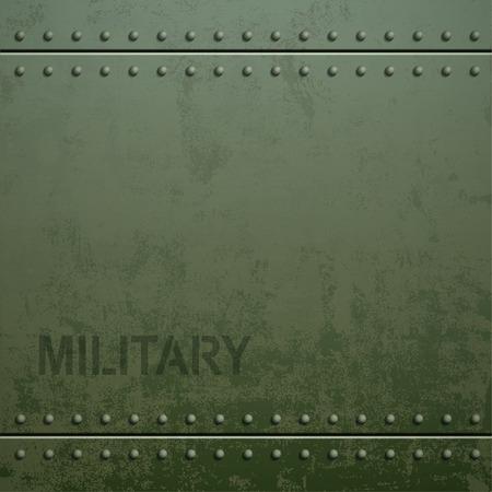 Stary wojskowy pancerz tekstury nitami. tło Metal. ilustracji wektorowych Zdjęcie.