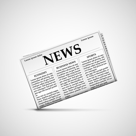 krant pictogram en het laatste nieuws. Stock vector illustratie. Vector Illustratie