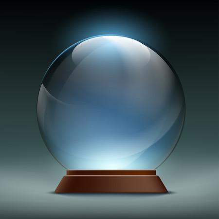 magic ball: Transparent crystal, glass, magic ball. Stock vector illustration.
