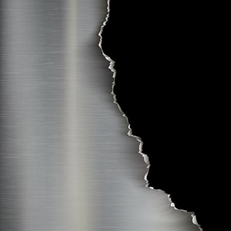 Industriële achtergrond van gescheurde metaal. Stock illustration