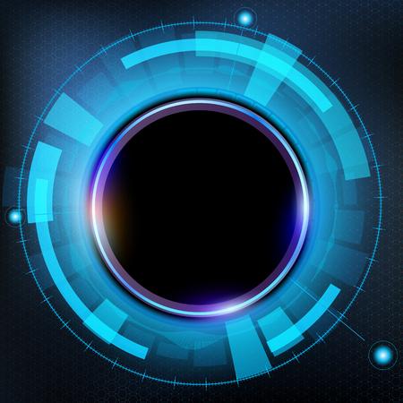 virtual reality simulator: Technology futuristic HUD interface. Abstract background. Stock vector illustration. Illustration