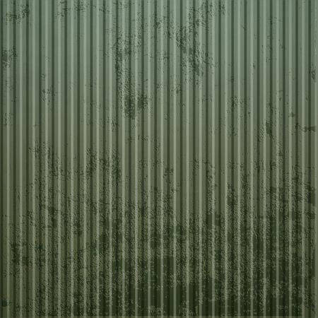 junkyard: Texture of old rusty corrugated metal. Industrial background Illustration