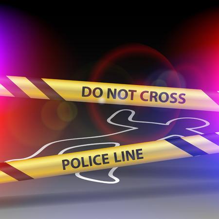 border patrol: Crime scene. Do not cross. Yellow warning tape.