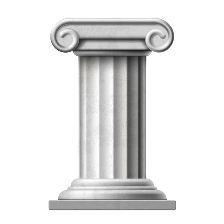 column: Icon Antique marble column. Isolated on white background. Stock vector illustration.