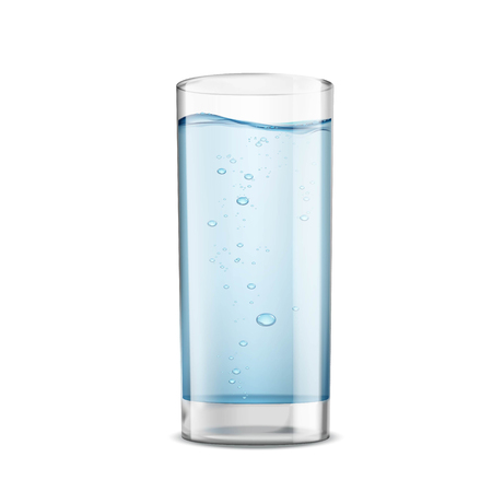 water filter: Glass of clean water isolated on white background. Stock vector illustration. Illustration