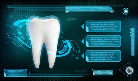 Menschlicher zahn Whitening und Behandlung. Vektor-Illustration. Standard-Bild - 74076060