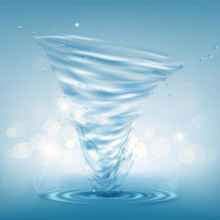 Tornado de agua ilustración.
