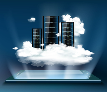 Technology background with server storage concept.