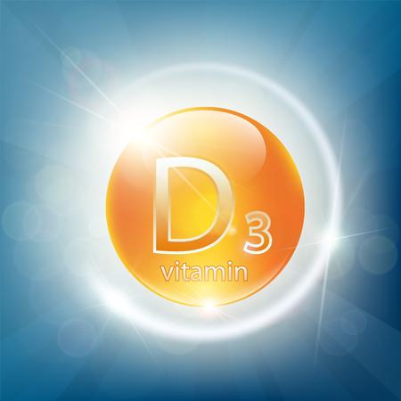Vitamine et minéraux pour la santé. Icône de pilule de soins de santé de calcium D3. Illustration vectorielle stock