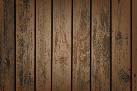 Brown wooden panels vector illustration