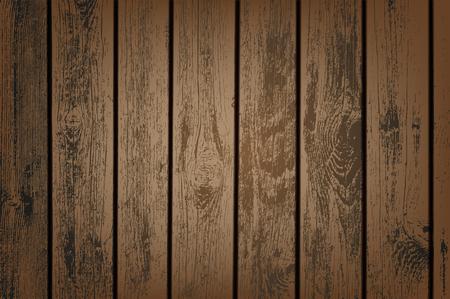 Brown wooden panels vector illustration