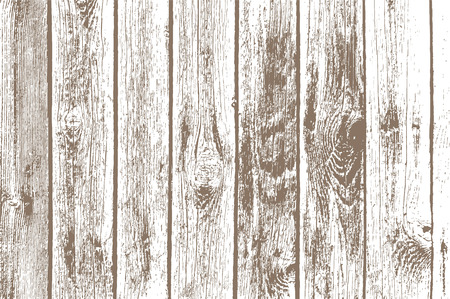 Texture of wooden panels. Timber background. Pattern isolated on white. Stock vector illustration. Çizim