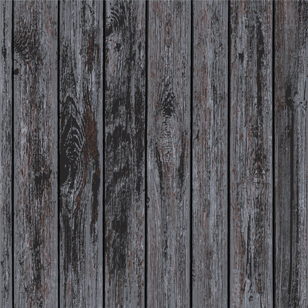 Texture of dark wooden panels. Timber blank background. Stock vector illustration.