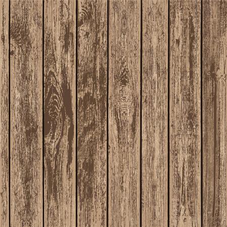 Textuur van bruine houten panelen. Hout bord achtergrond. Voorraad vectorillustratie.