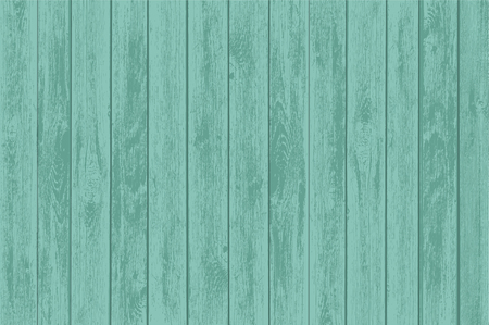 Green wooden table panels. Old background of the timber. Stock vector illustration. Illustration