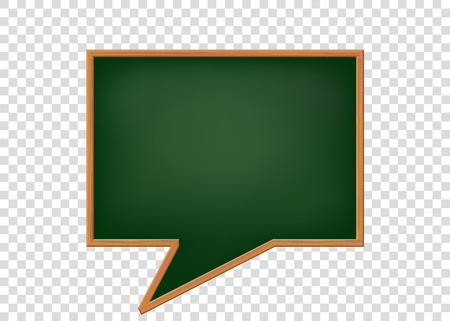 Blank speech bubbles as a school blackboard. Isolated on a transparent background. Vector background.