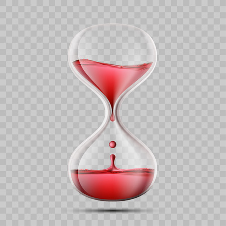 Icon hourglass with blood. World Blood Donor Day. Isolated on a transparent background. Vector illustration Ilustracje wektorowe