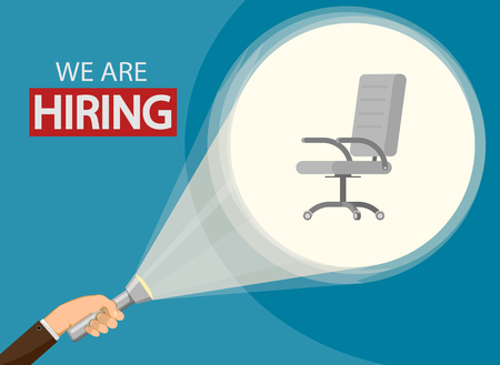 Employment recruitment. Announcement of hiring. Hr business concept. Stock vector illustration.