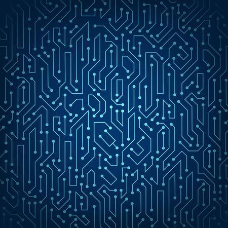 Circuit data digital pattern. Technology electronics texture. Vector background. Vektorové ilustrace