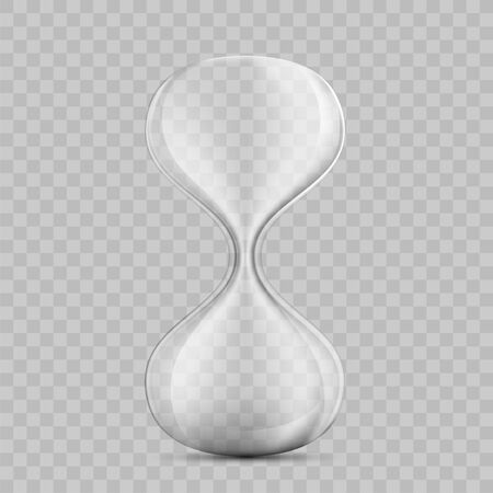 Icon empty hourglass. Template sandglass isolated on a transparent background. Vector mockup. Çizim