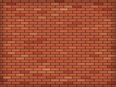 Mur de briques rouges. Bâtiment industriel. Fond texturé. Modèle vectoriel.