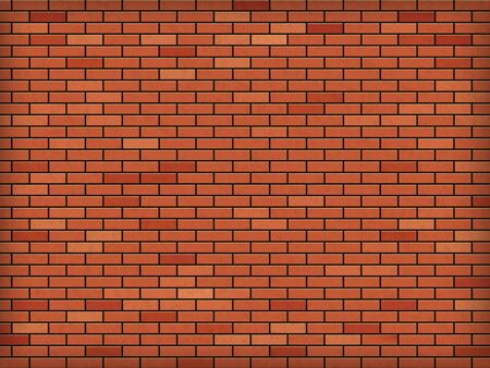 Red brick wall. Industrial construction. Textured background. Vector pattern.