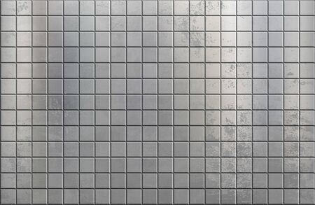 Gray metal texture background with geometric tile pattern. Vector illustration