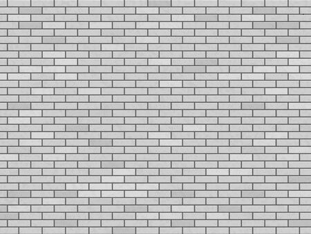 Modern white blank brick wall. Texture background. Vector pattern