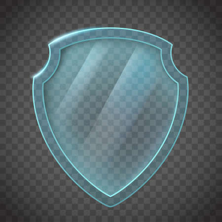Glass shield. Icon isolated on transparent background.