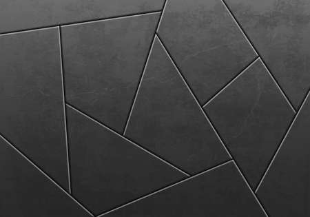 Crack pattern on a black stone or metal background. Vector illustration.