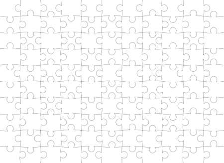Puzzle pattern. Texture isolated on a white background. Vector background. Vecteurs