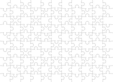 Puzzle pattern. Texture isolated on a white background. Vector background. Vektoros illusztráció