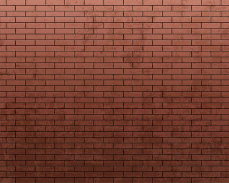 Red brick wall. Textured background with a pattern. Vector illustration Stock Illustratie