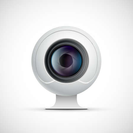 Webcam for chat. Isolated on white background. Vector icon