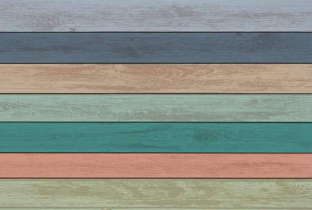 Painted wood panels in a retro style. Vector vintage background.
