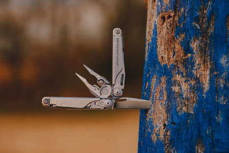 multitool laserman serdch is a cool and necessary irreplaceable tool Stock fotó