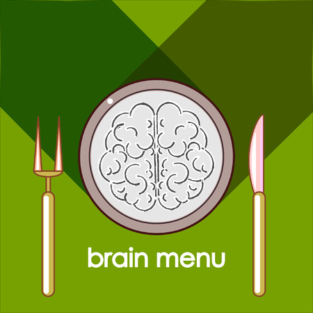 ?ontemporary breakfast of busy intelligent person. We devour our brain every day