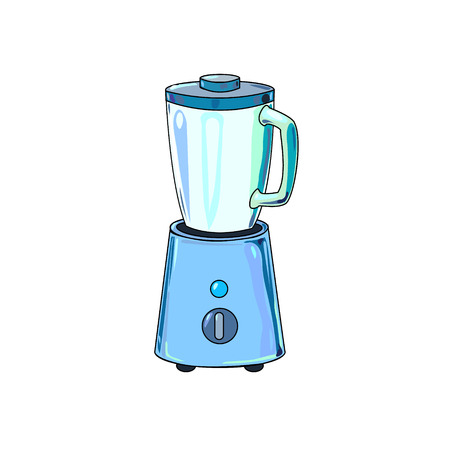 The vector illustration of the blender to create an internet shop icon or a kitchen book