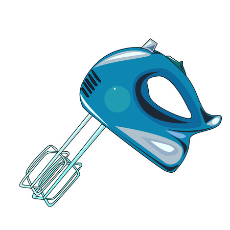 The vector illustration of the electric kitchen mixer to create an internet shop Illustration