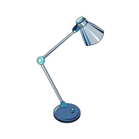 The vector illustration  of the ?lectric universal table lamp to create an internet shop icon or a book about home electric appliances or a store of electrical goods