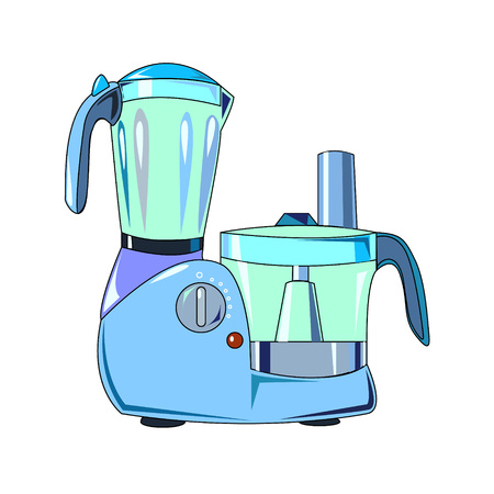 The vector illustration of the electric universal food processor to create an internet shop Illustration