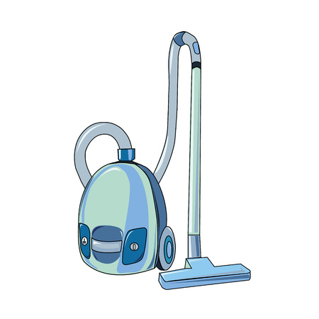 The vector illustration of the electric vacuum cleaner to create an internet shop
