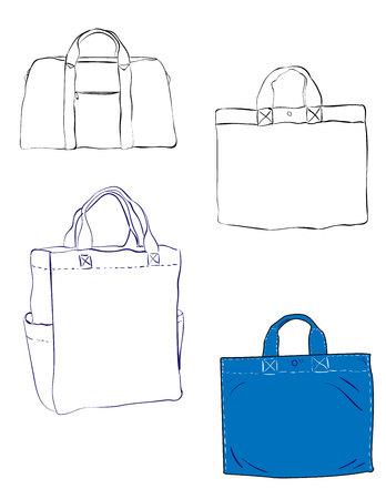The Vector sketch bag. Ilustração