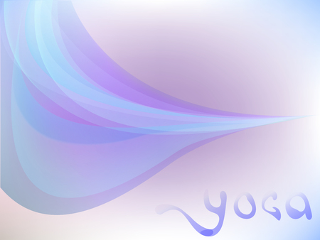 The cool Vector tenderness in  sky for yoga.