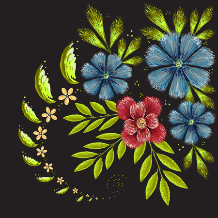The Vector pattern flower for T-shirt design or outwear and or material. Illustration